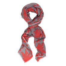 Buy French Connection Blow Out Scarf, Red Holiday Surf Online at johnlewis.com