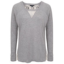 Buy French Connection Alex Scooped Neck Jumper, Grey Melange/Daisy Online at johnlewis.com