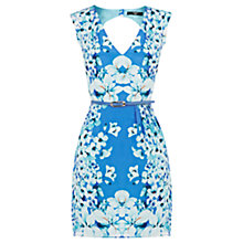 Buy Oasis Silk Placement Dress, Multi Blue Online at johnlewis.com