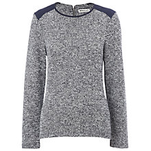 Buy Whistles Anna Textured Jumper, Navy Online at johnlewis.com