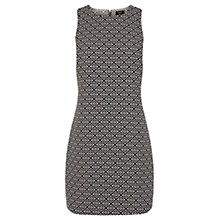 Buy Oasis Joy Jacquard Dress, Black Online at johnlewis.com