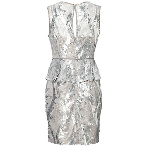 Lace Cocktail Dress on Buy Adrianna Papell Lace Cocktail Dress  Silver Online At Johnlewis