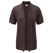 Buy CC Petite Short Sleeved Cardigan, Coffee Online at johnlewis.com