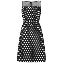 Buy Adrianna Papell Illusion Dress, Black/White Online at johnlewis.com