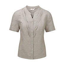 Buy CC Petite Scalloped Edge Blouse, Stone Online at johnlewis.com