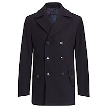 Buy Tommy Hilfiger Pure Wool Pea Coat Online at johnlewis.com