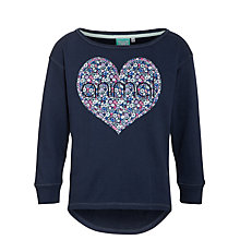 Buy Animal Girls' Moors Crew Jumper, Navy Online at johnlewis.com