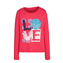Buy Animal Girls' Maidda Love Long Sleeve Top, Pink Online at johnlewis.com