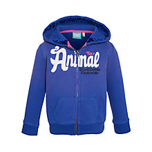 Buy Animal Girls' Zip Hoody Jumper, Blue Online at johnlewis.com