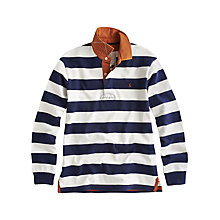 Buy Joules Norwell Striped Rugby Top, Navy Online at johnlewis.com