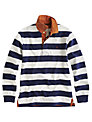 Joules Norwell Striped Rugby Top, Navy