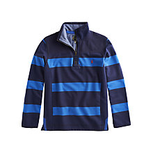 Buy Joules Templeton Rugby Stripe Sweatshirt, Blue Online at johnlewis.com