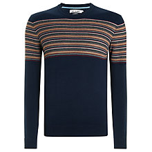 Buy Ben Sherman Jacquard Stripe Crew Neck Jumper Online at johnlewis.com