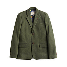 Buy Joules Langworth Herringbone Tweed Blazer, Moss Green Online at johnlewis.com