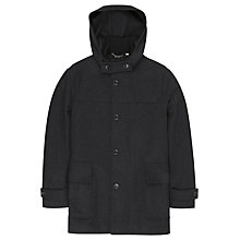 Buy Ben Sherman Melton Wool Duffel Coat, Ebony Marl Online at johnlewis.com