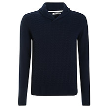 Buy Ben Sherman Shawl Collar Lambswool Rich Jumper Online at johnlewis.com