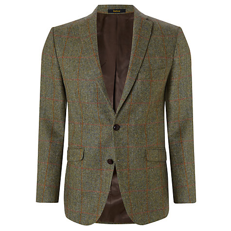 Buy Barbour Wool Tweed Elbow Patch Jacket, Olive Online at johnlewis.com