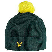 Buy Lyle & Scott Pompom Wool Beanie, Green Online at johnlewis.com