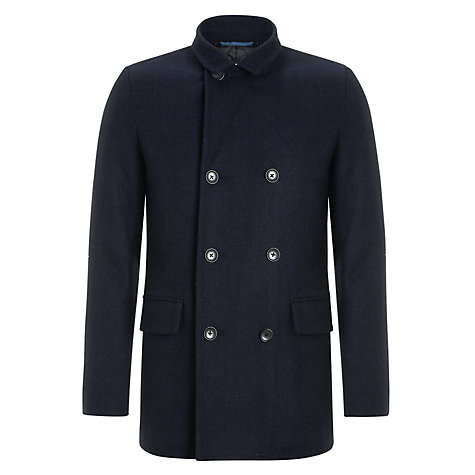 Buy Ben Sherman Herringbone Wool Blend Pea Coat Online at johnlewis.com