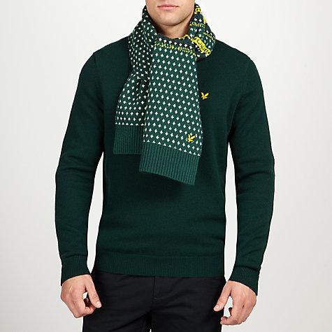 Buy Lyle & Scott Fair Isle Lambswool Blend Scarf, Scotts Green/Multi Online at johnlewis.com