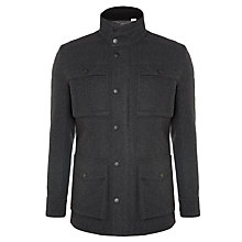 Buy Ben Sherman Melton Wool Blend Coat Online at johnlewis.com