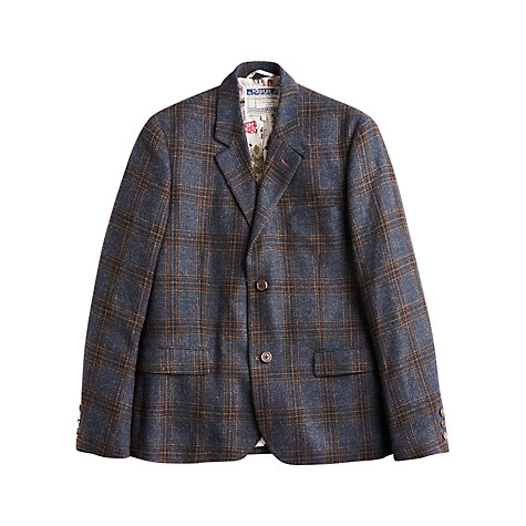 Buy Joules Langworth Check Tweed Blazer, Navy/Multi Online at johnlewis.com