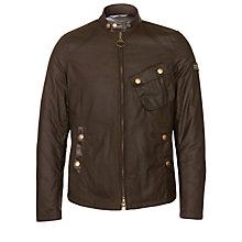 Buy Barbour Steve McQueen™ Collection Greenham Biker Jacket, Olive Online at johnlewis.com
