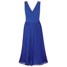 Buy Jacques Vert Delphinium Pleated Dress, Blue Online at johnlewis.com