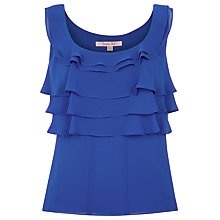 Buy Jacques Vert Frill Blouse, Delphinium Blue Online at johnlewis.com