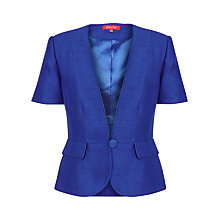 Buy Jacques Vert Short Sleeved Jacket, Blue Online at johnlewis.com