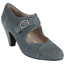Buy John Lewis Bazonette Buckled Mary Jane Shoes, Grey Online at johnlewis.com