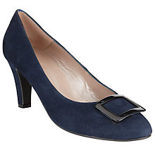 Buy John Lewis Vuarca Buckled Court Shoe, Navy Online at johnlewis.com