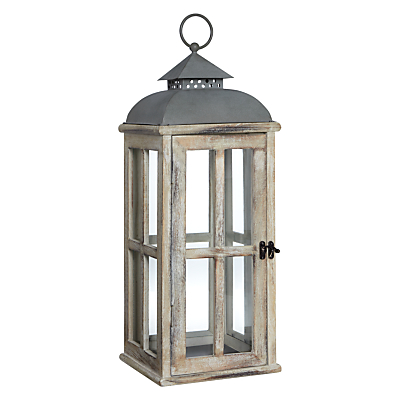 John Lewis Whitewash Wood Lantern
