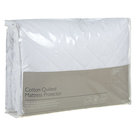 Buy John Lewis New Cotton Quilted Mattress Protector Online at johnlewis.com