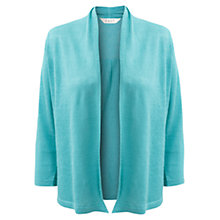 Buy East Linen Cardigan, Aqua Online at johnlewis.com