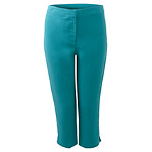 Buy East Capri Linen Trousers, Aqua Online at johnlewis.com