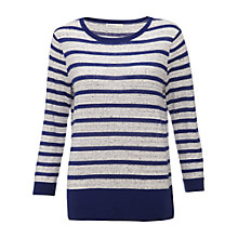 Buy Whistles Joy Striped Jumper, Blue/White Online at johnlewis.com