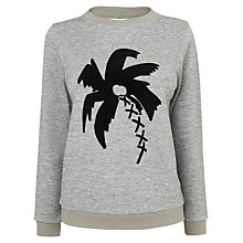 Buy Boutique by Jaeger Palm Tree Jumper, Grey Online at johnlewis.com