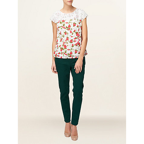 Buy Phase Eight Harrietta Shell Top, White Online at johnlewis.com