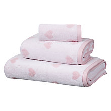 Buy little home at John Lewis Fairy Princess Hearts Jacquard Towels Online at johnlewis.com