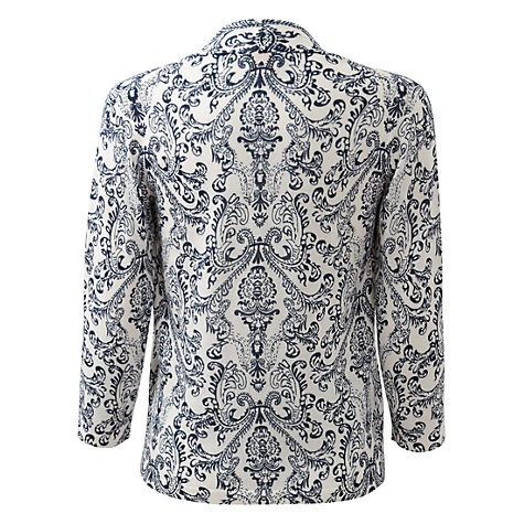 Buy East Paisley Print Cardigan, White/Blue Online at johnlewis.com