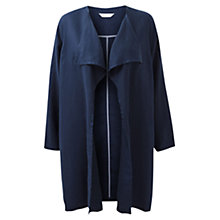 Buy East Long Line Waterfall Coat, Royal Blue Online at johnlewis.com