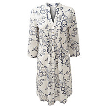 Buy East Geisha Rose Dress, White/Blue Online at johnlewis.com
