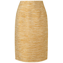 Buy Jaeger Tweed Pencil Skirt, Gold Online at johnlewis.com