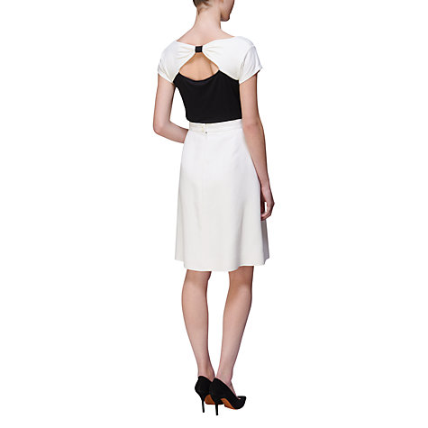 Buy Jaeger Bow Front Skirt, Ivory Online at johnlewis.com
