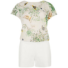 Buy Ted Baker Dancing Leaves Playsuit, Jasmine Online at johnlewis.com