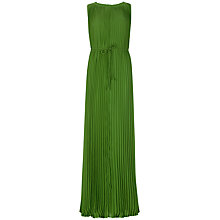 Buy Ted Baker Pleated Dress, Dark Green Online at johnlewis.com