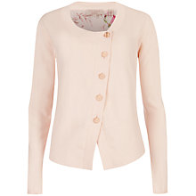 Buy Ted Baker Rikka Floral Print Back Cardigan, Pale Pink Online at johnlewis.com