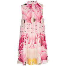 Buy Ted Baker Aliah Floral Print Dress, Pale Pink Online at johnlewis.com