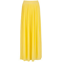 Buy Ted Baker Ochelle Maxi Skirt, Yellow Online at johnlewis.com